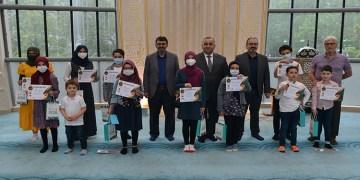 DİTİB'de çevrimiçi bilgi yarışmasında dereceye giren öğrenciler ödüllendirildi