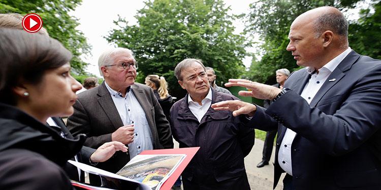 Almanya Cumhurbaşkanı Steinmeier, sel bölgesini ziyaret etti