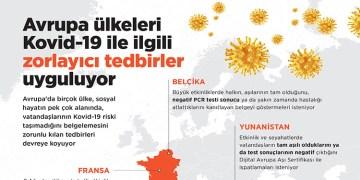Avrupa ülkeleri Kovid-19 ile ilgili zorlayıcı tedbirler uyguluyor