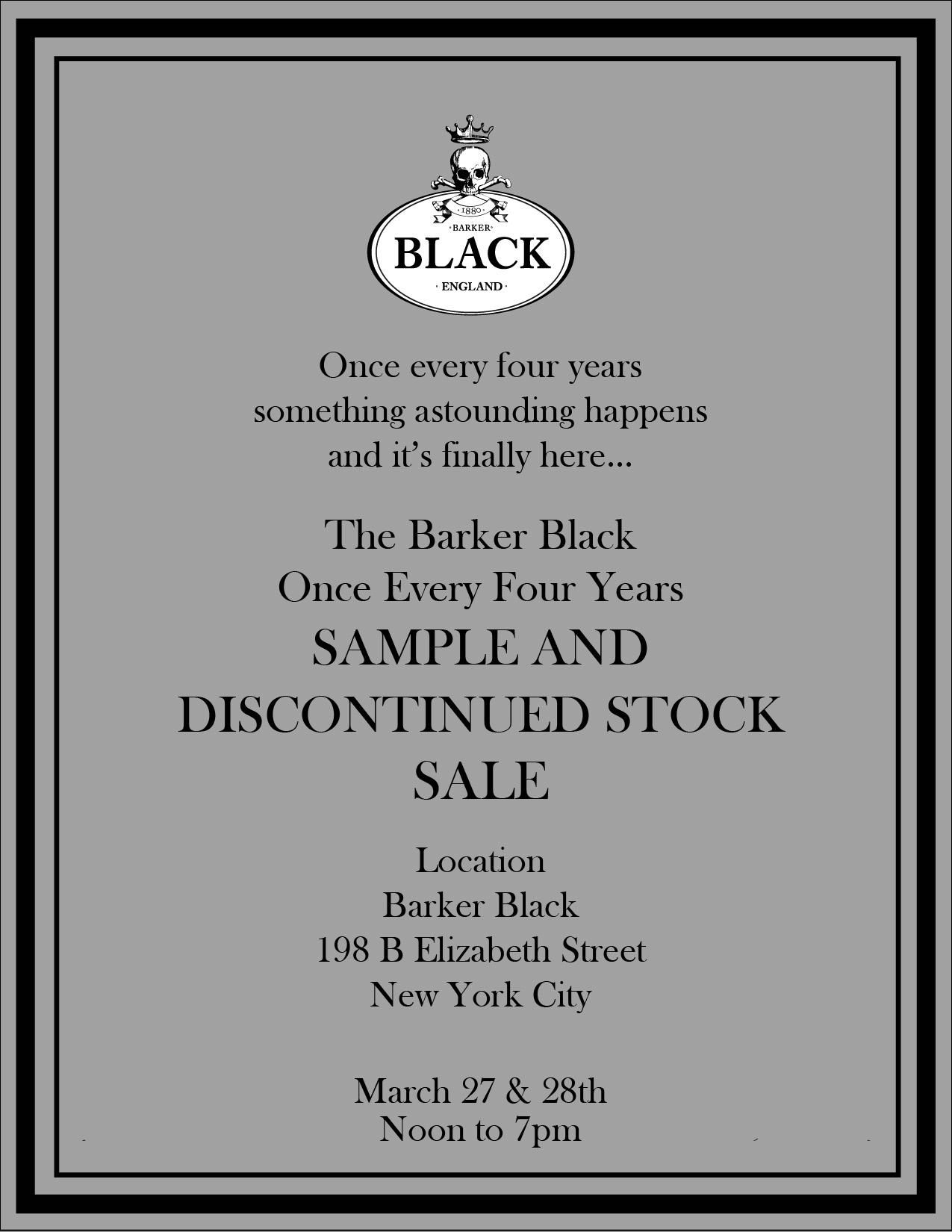 BB Sample Sale Invite