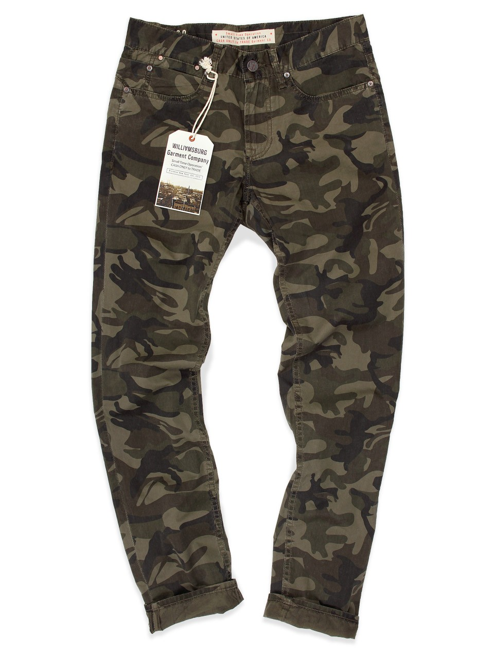 Lt Weight Camouflage Slim Jean-Cut pants - GRAND STREET