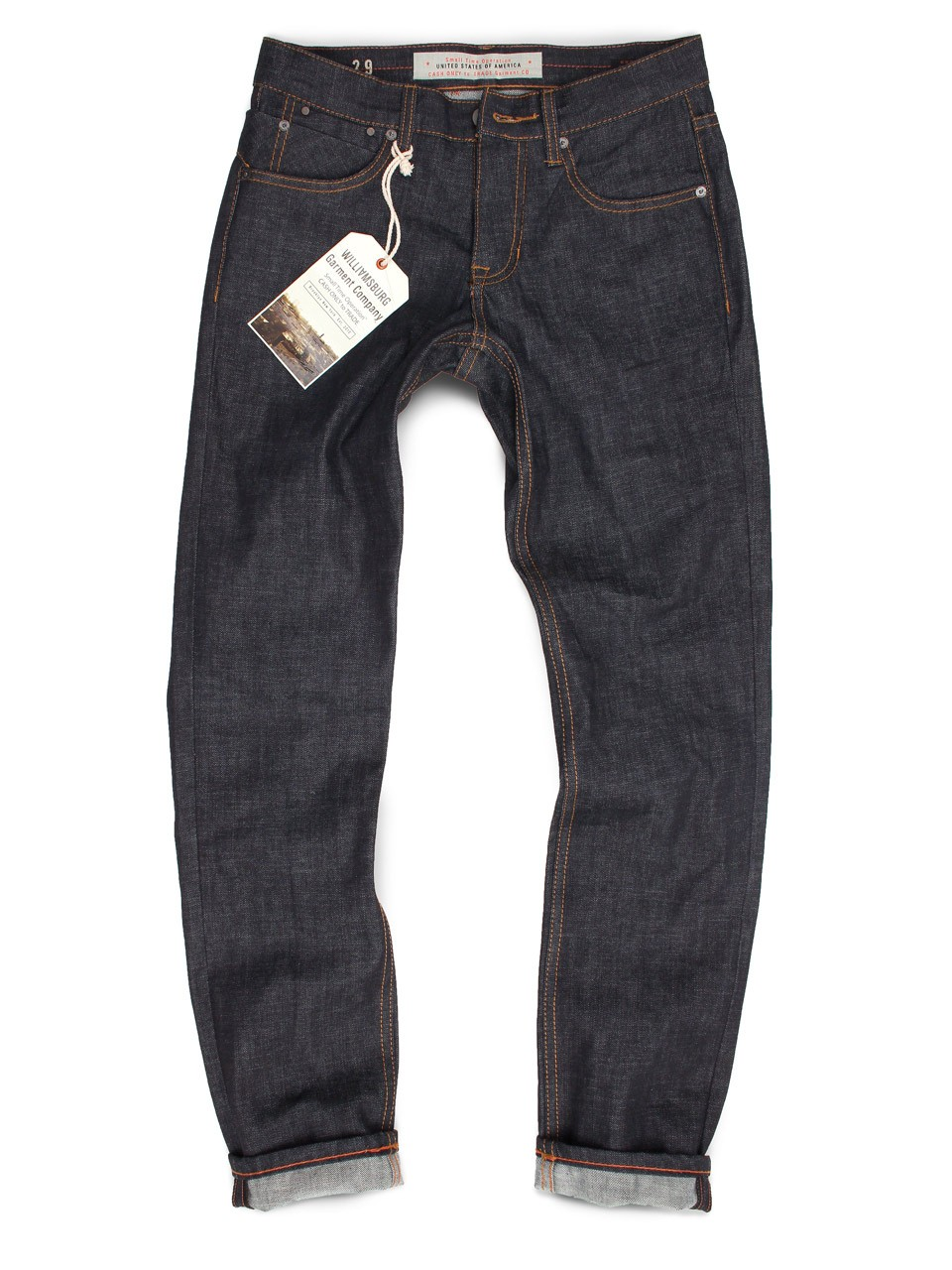 Raw Indigo Slim Jeans - GRAND STREET