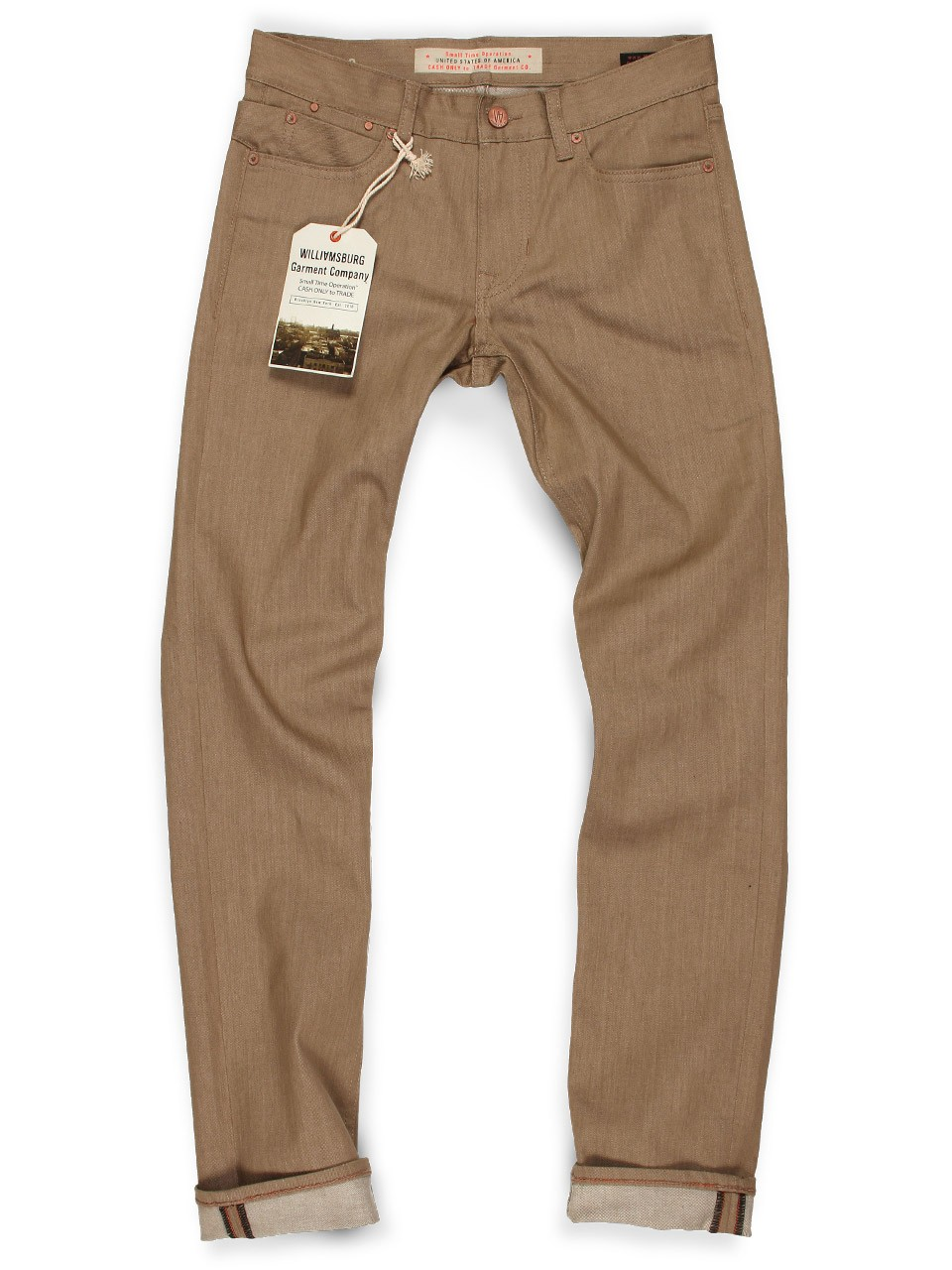 Raw Tan Skinny Jeans - SOUTH 4th STREET