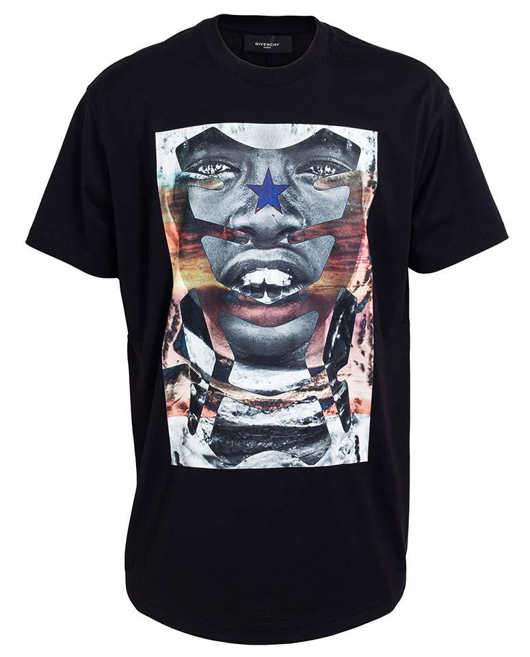 Givenchy-SS14-Tribal-Print-Racer-T-shirt