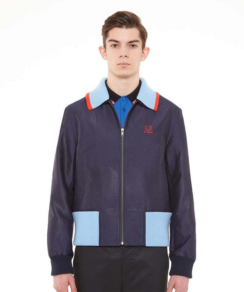 Raf Simons x Fred Perry Collection Geometric Twill Harrington