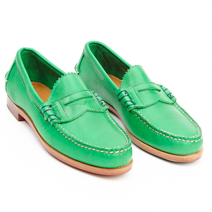 Band of Outsiders X Rancourt Penny Loafer Green