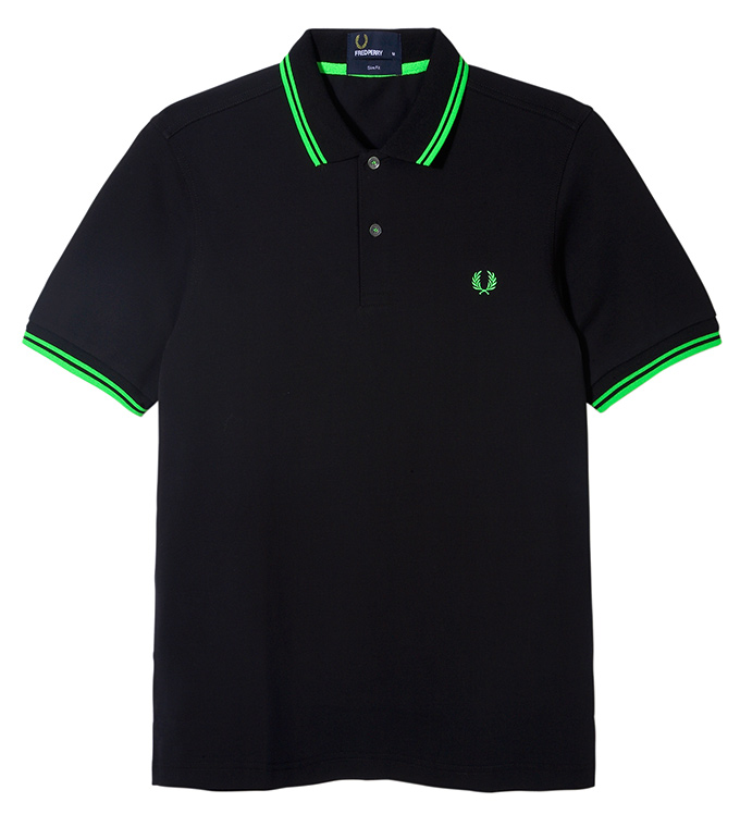 Fred Perry Soho Neon_Polo Green Tip