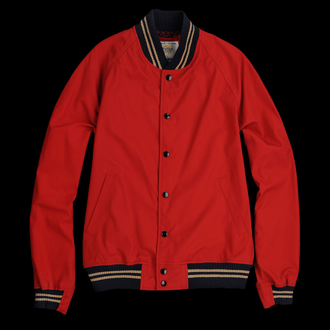 Golden Bear Saratoga Varsity Jacket_Red