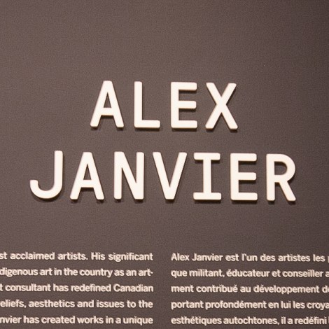 Alex Janvier at the National Gallery of Canada