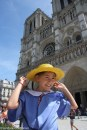 Madeline in Paris at Sacre-Coeur