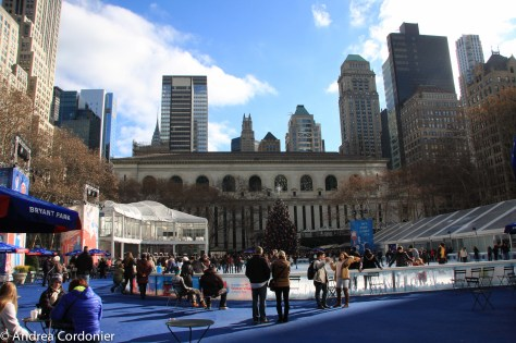 Ice skating rinks in New York City, Bryant Park