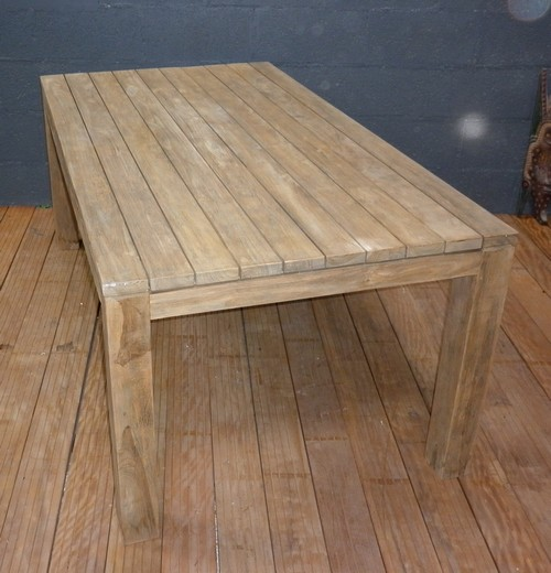 Table Jardin Teck Ou Eucalyptus - Décoration de maison idées de ...