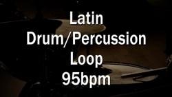 Latin Drum-Percussion Loop 95bpm