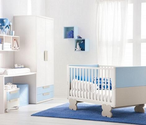 Habitacin del beb blanca