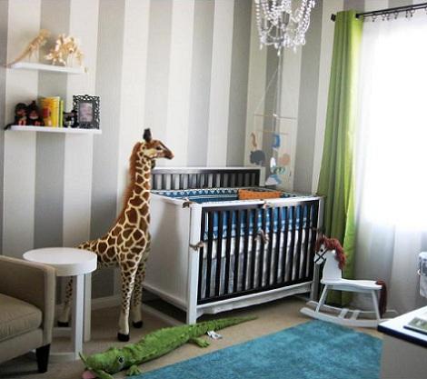Papel habitacin del beb de rayas