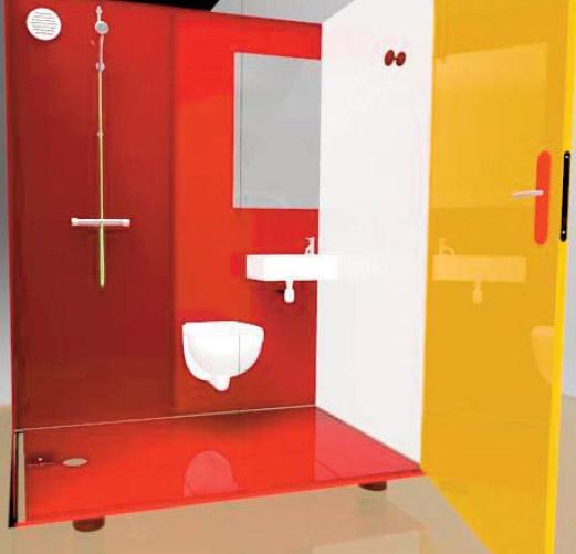 Little Star La Salle Deau Douche Lavabo WC Petits Espaces