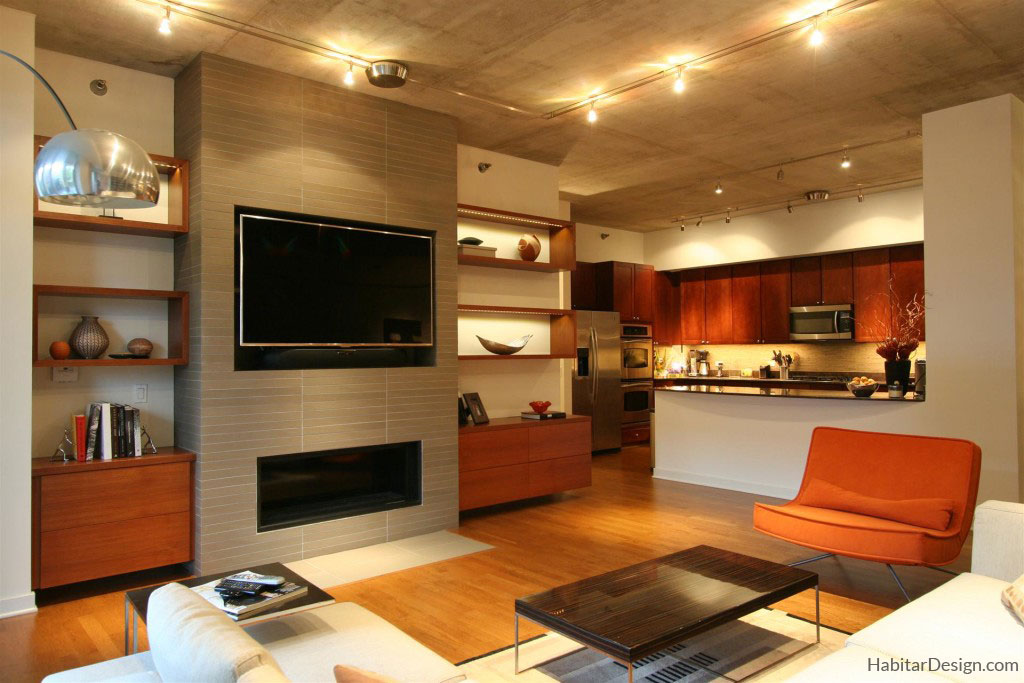 Fireplace and Builtin Design Chicago  Habitar Design