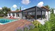 Maison angulaire avec véranda bioclimatique sur Puget sur Argens