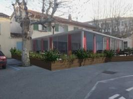 Incrustation d'une Véranda sur restaurant à Roquebrune sur Argens