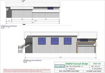 Mise en plan d'un bâtiment industriel pour agrandissement vue NORD