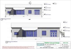 Mise en plan d'un bâtiment industriel pour agrandissement vue SUD