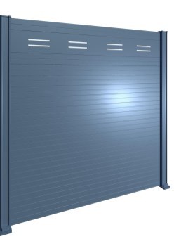 Palissade lame rectangulaire + ouverture en partie haute