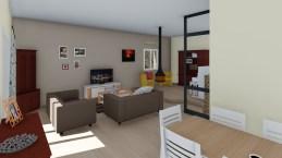 Salon séjour avec coin cheminée sur Roquebrune sur Argens