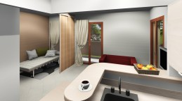 Séparation chambre / salon sur Fréjus