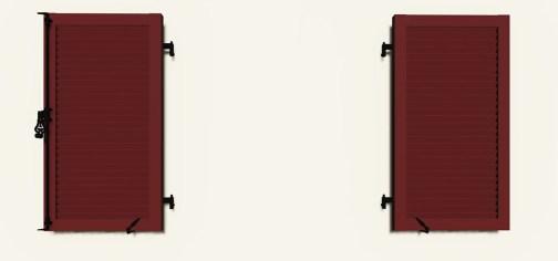 Volet Battant 2 vantaux Persienné ouvert