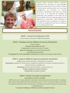 Formation : « Construire un projet de vie collective résilient basé sur une production alimentaire agro-écologique diversifiée »