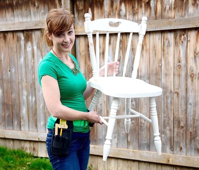 Wood chair Habitat ReStore