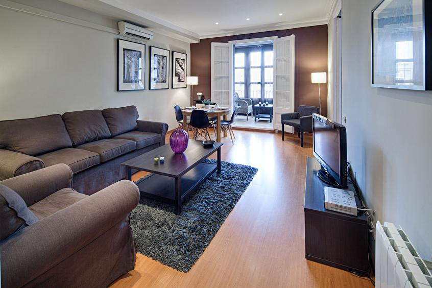 veranda living rooms no area rug in room lauria apartment barcelona for 8 people