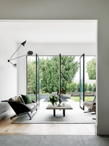 High ceilings help evoke space and light.