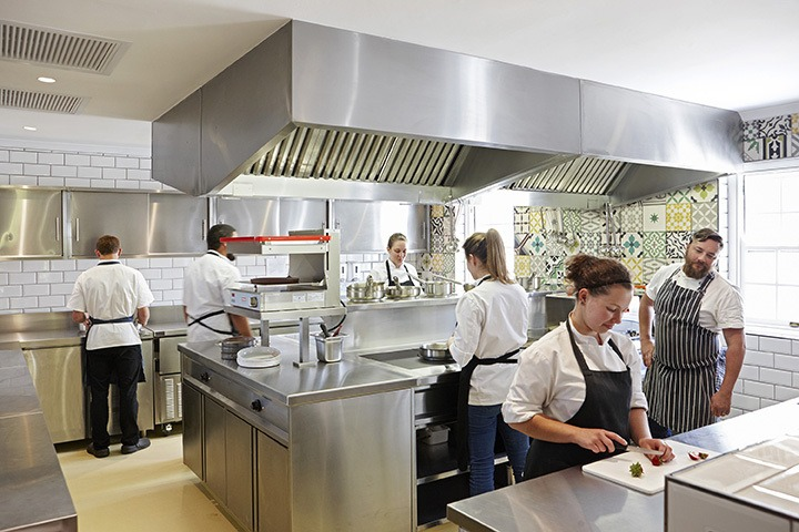 Faber Restaurant Kitchen