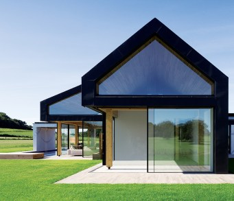 Large scale ceramic tiles were used throughout, plus a timber deck, marble wall cladding and concrete floors.