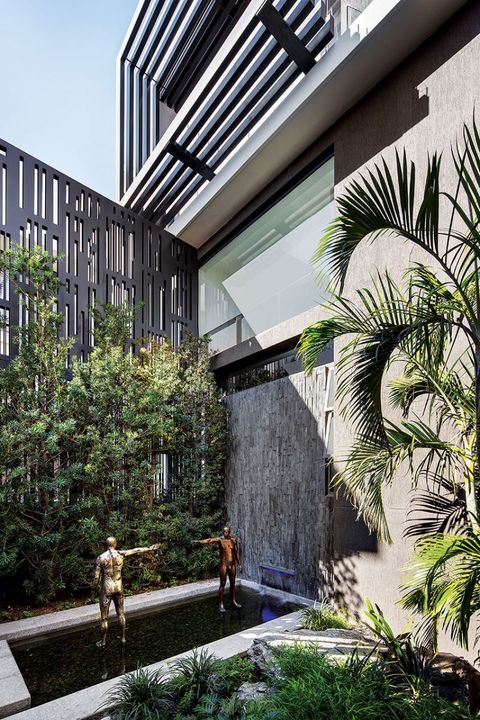 The courtyard at the core is aesthetic and appealing in providing tranquility to bedrooms both above and below.