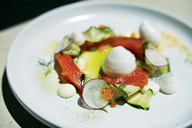 Gin cured Franschhoek trout
