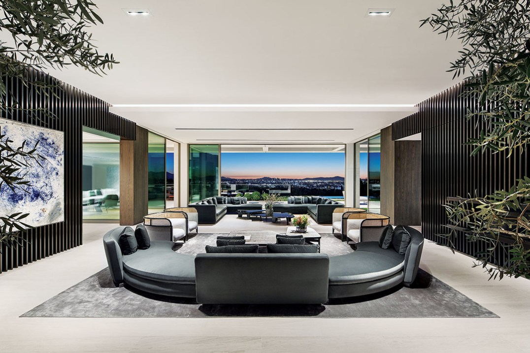 Being able to look through the living areas onto the terrace and beyond to Downtown LA is vital here and reflects the essence of this contemporary living machine. Space and light are key.