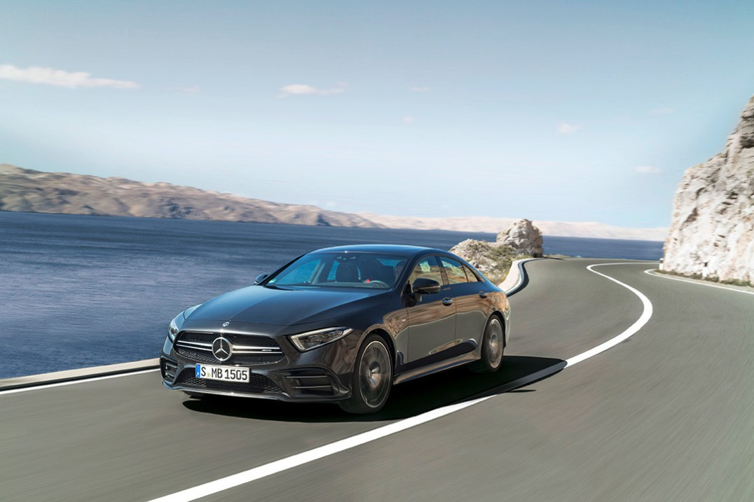 Mercedes-AMG CLS 53 4MATIC+; Exterieur: graphitgrau;Kraftstoffverbrauch kombiniert: 8,7 l/100 km; CO2-Emissionen kombiniert: 200 g/km* Mercedes-AMG CLS 53 4MATIC+; exterior: graphite grey;Fuel consumption combined: 8.7 l/100 km; combined CO2 emissions: 200 g/km*