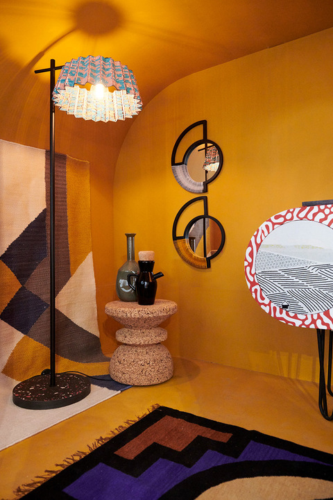 tutu floor lamp with wiid stool and modern gesture mirrors