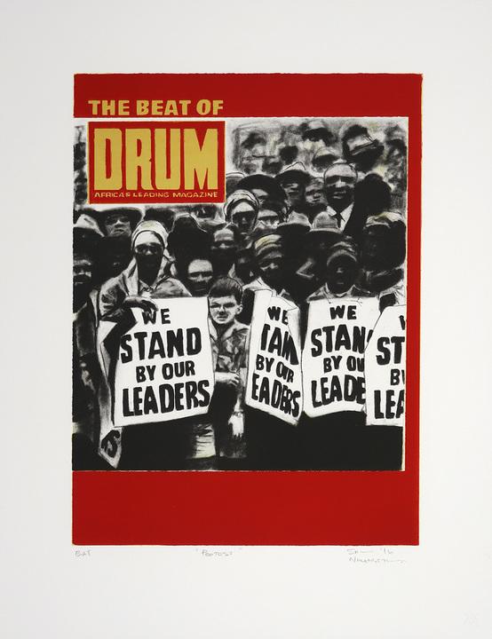 Protest (2016) Medium: Three colour lithograph Size: 52.2 x 40.2 cm Edition size: 22