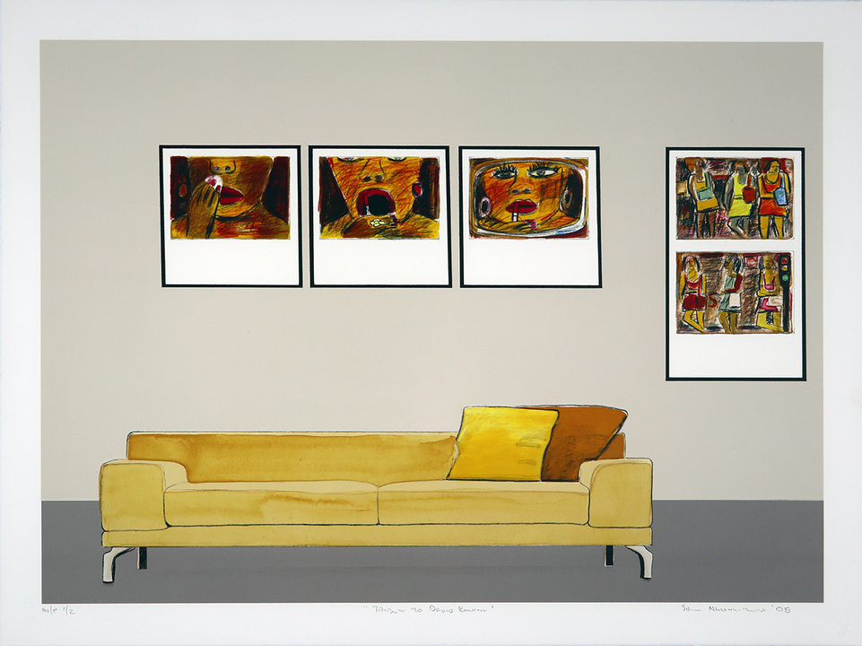 Tribute to David Koloane (2013) Medium: Twelve colour lithograph Paper size: 57 x 76.5 cm Edition size: 50