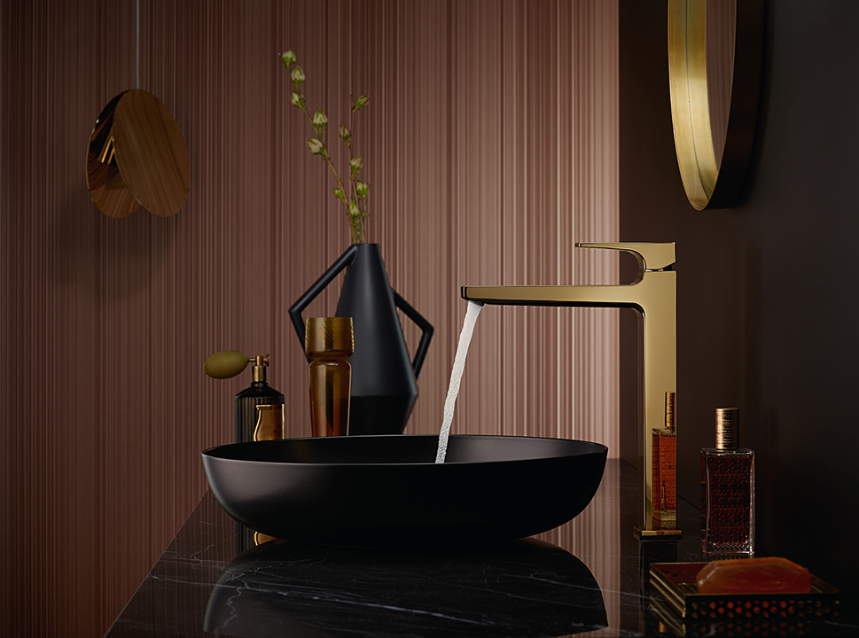 hansgrohe FinishPlus showcases faucets to perfection_Gold