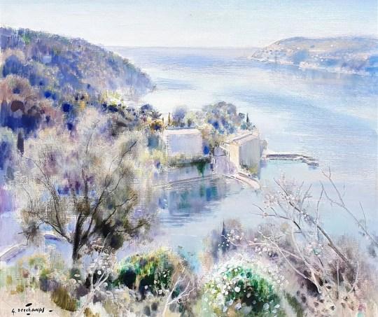 HR HAYNES FINE ART Gabriel Deschamps - La Rade de Villefranche