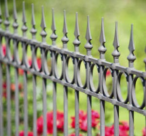 Clture de jardin en acier ou fer forg  Habitatpresto