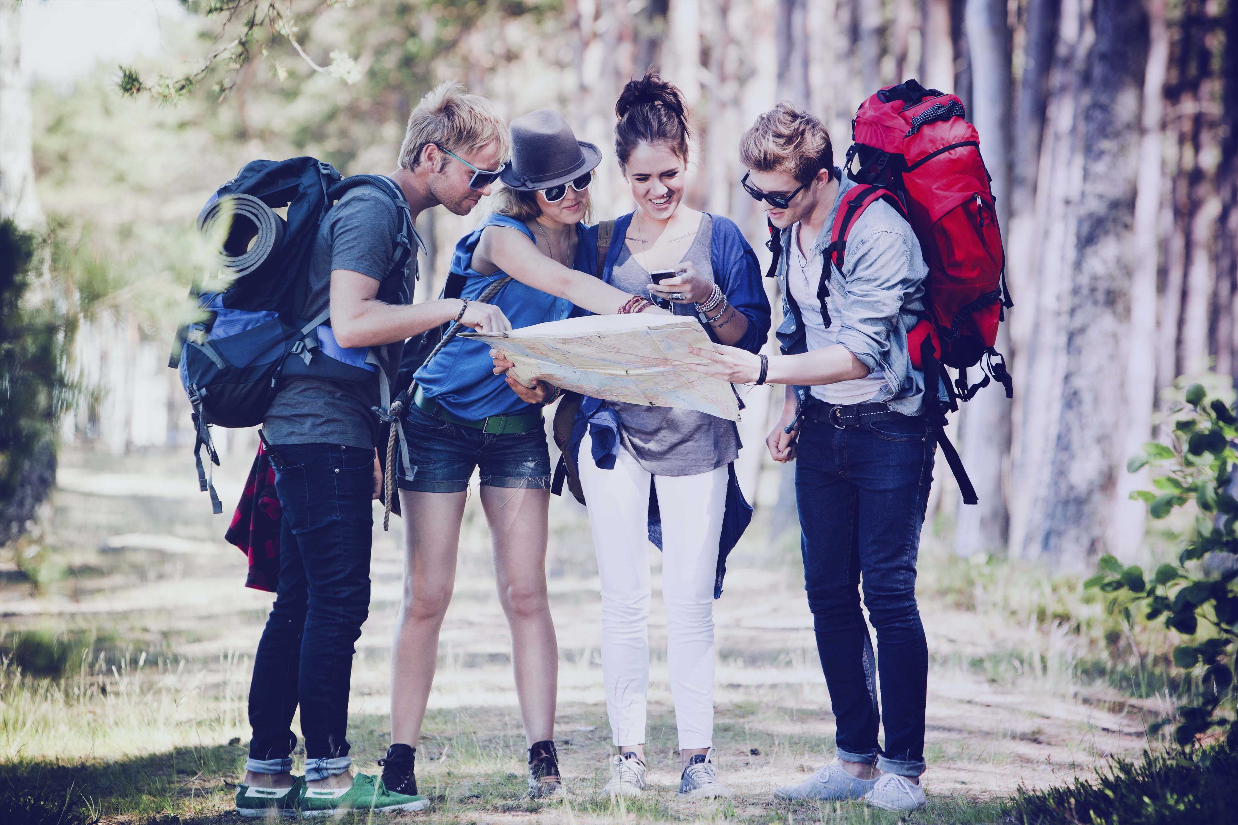 Backpacking activity