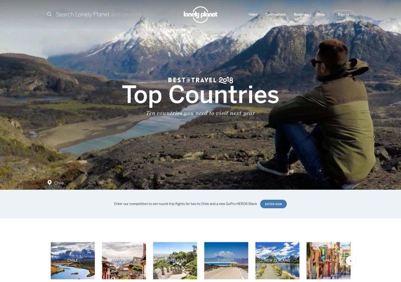 Lonley Planet Best Travel 2018