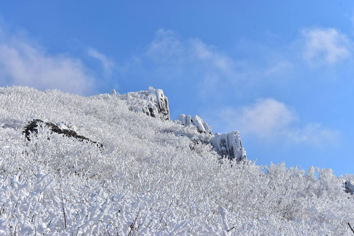 Snow covered Mudeungsan Mountain National Park