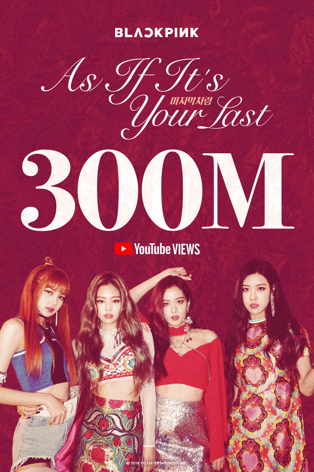 Black Pink's 'As If It's Your Last' music video hits 300 million