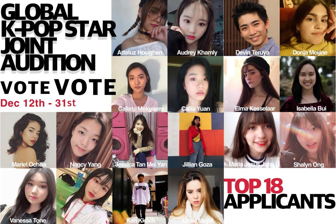 Global KPOP Star joint Audition fan vote has begun